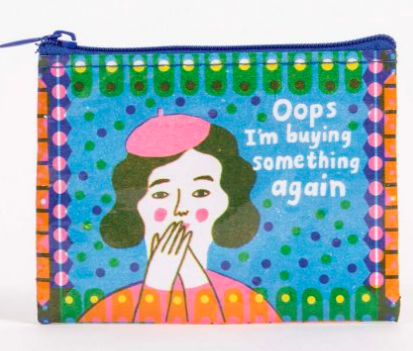 blue q Coin Purse -Oops, Buying Something