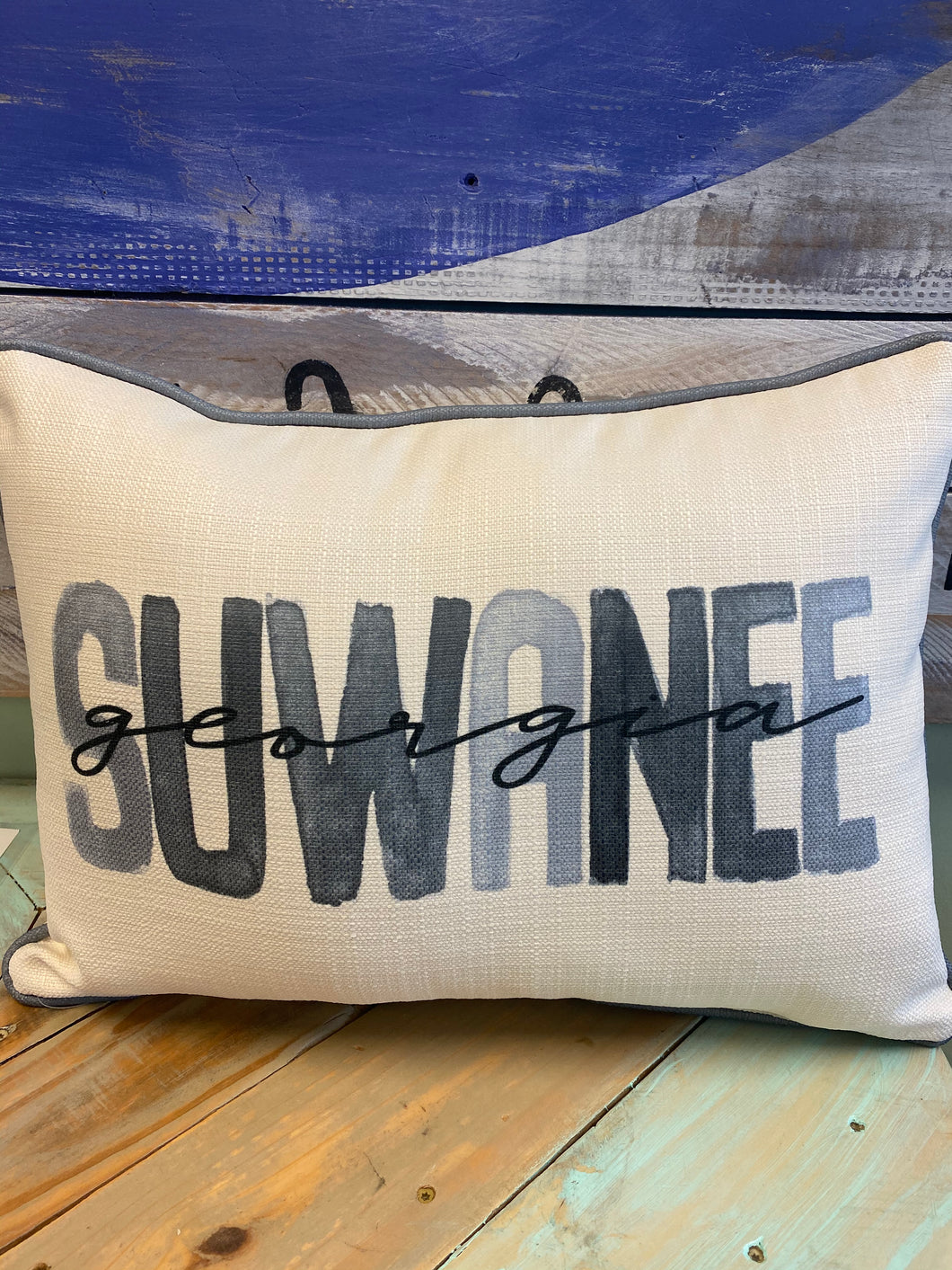 Suwanee, GA Piped Throw Pillow
