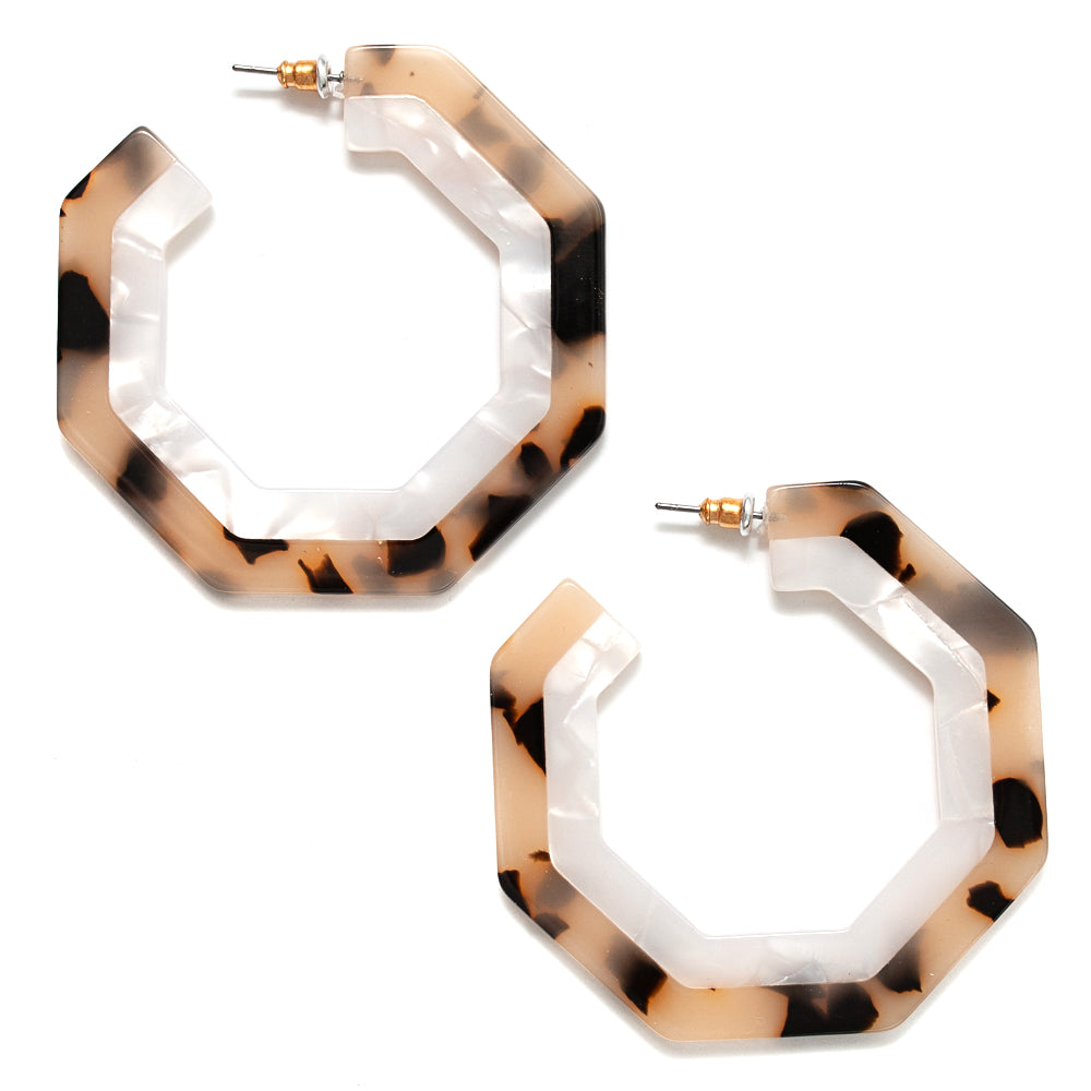 MBS Earrings -Tella Light Tortoise