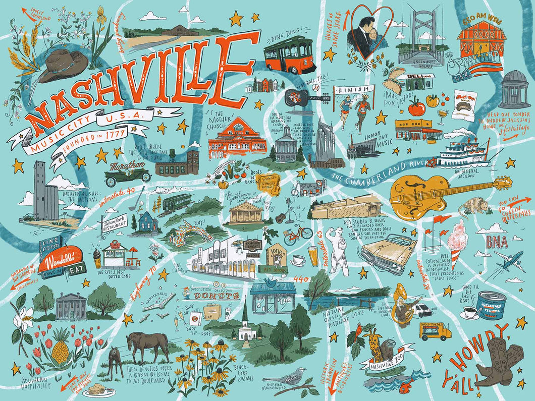 True South Nashville Illustrated Puzzle