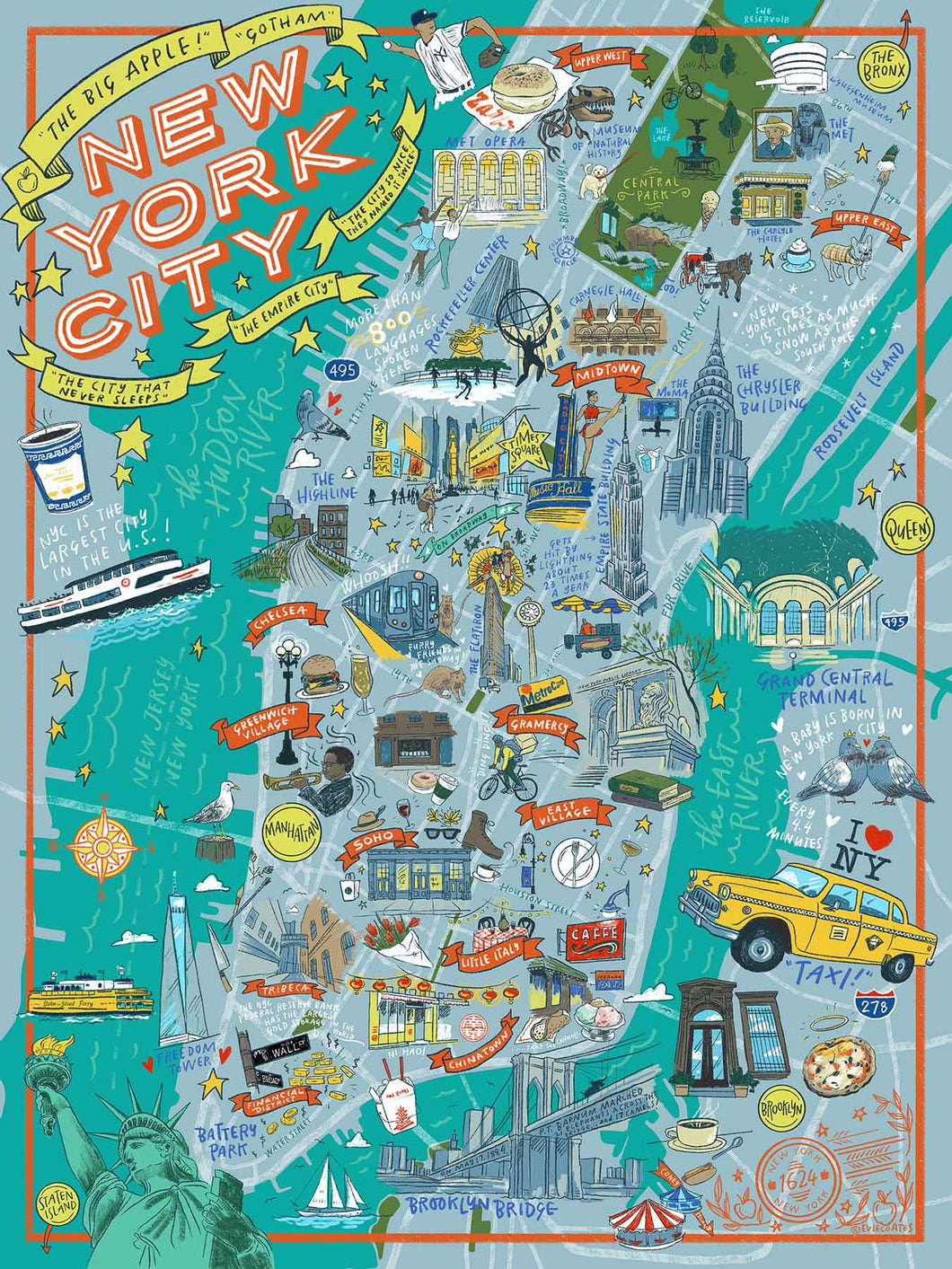 True South New York City Illustrated Puzzle