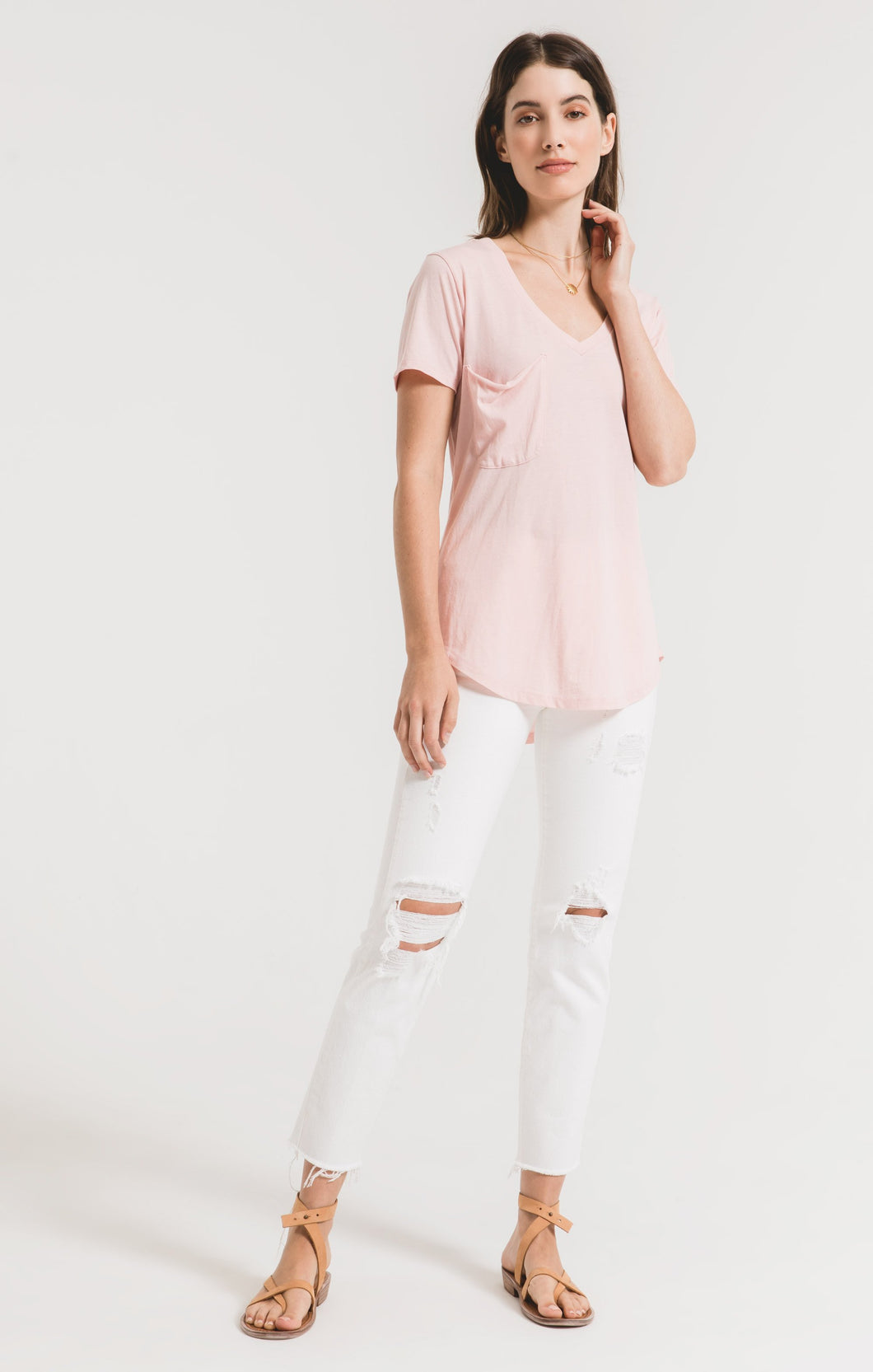 Z Supply Pocket Tee -Pale Blush