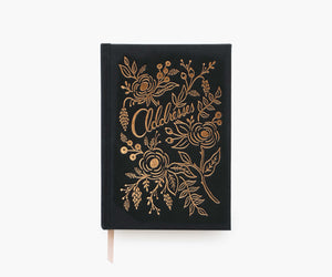 Rifle Paper Address Book -Raven