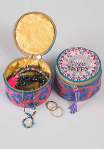 Natural Life Jewelry Round -Live Happy