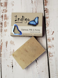 Indigo Oatmeal, Milk & Honey Facial Soap
