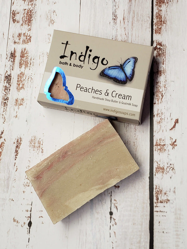 Indigo Peaches & Cream Goatmilk Soap