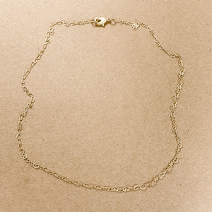 RSd Matte Gold Dainty Heart Chain Necklace