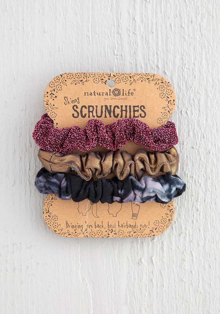 Natural Life Scrunchie Set -Rose Tie-Dye