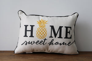 Home Sweet Home Pineapple Throw Pillow