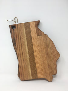 GWW Handmade Hardwood Georgia Cutting Board