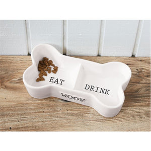 Dog Bone Shaped Pet Bowl