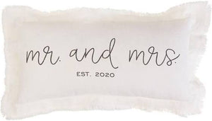 Mr & Mrs Est 2020 Pillow