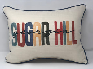 City State Poster Throw Pillow -Multi -Sugar Hill