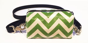Doggy Ditty -green Chevron