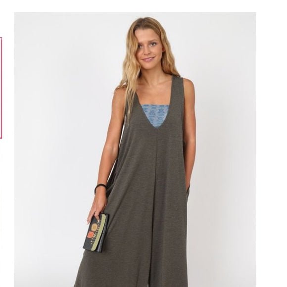 Natural Life Knit Jumpsuit -Bay -O/S