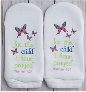 Standing on the Word Socks -Butterflies 1 Samuel 1:27