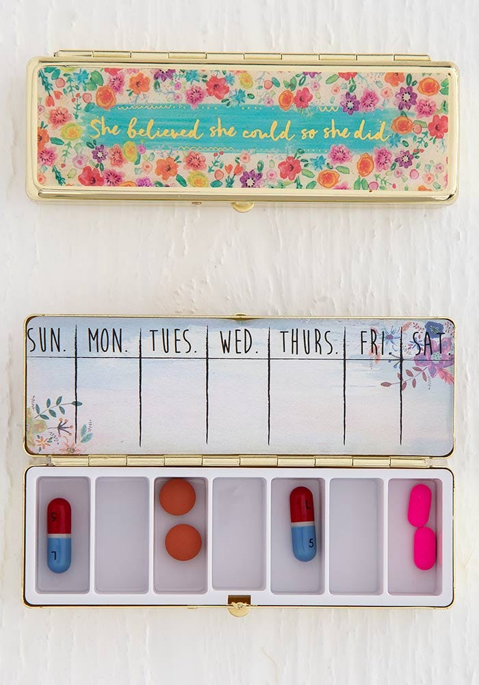 Natural Life Daily Pill Box -Believed She Could