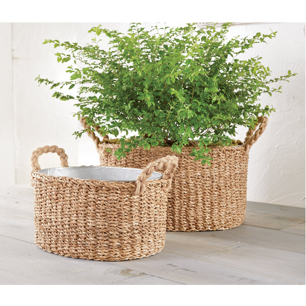 Seagrass Party Tubs (Set of 2)