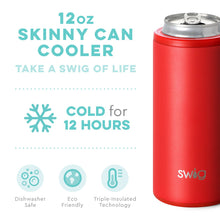 Load image into Gallery viewer, Swig Skinny Can Cooler -Matte Red