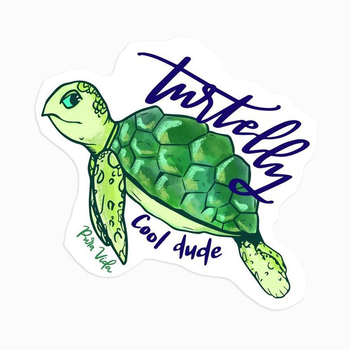 puravida sticker -turtelly cool