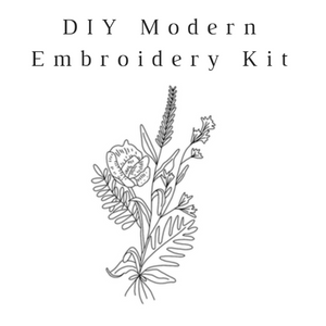 DIY Embroidery Kit-Wildflower Bouquet