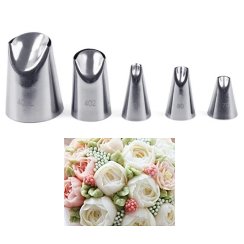5pcs/Set Flower Petal Icing Piping New