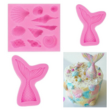 3D Mermaid Tail Silicone Molds