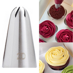 # 2D Piping Tip Rose Flower  Large Size