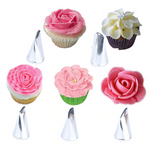 5pcs/Set Rose Petal Icing Piping Tips