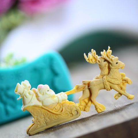 Christmas Sled Deer Silicone Mold