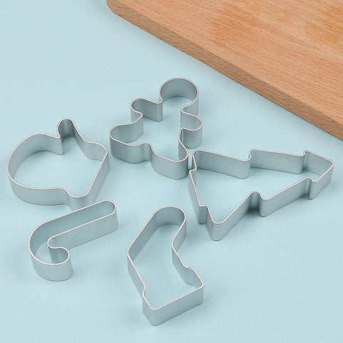 5pcs/Set Christmas Cookie Cutter