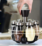 6 Spice Jars with 360 Rotating Holder