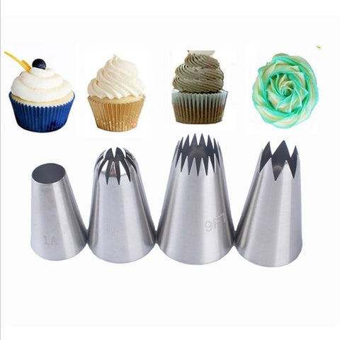 4pcs Large Size Icing Piping Tips