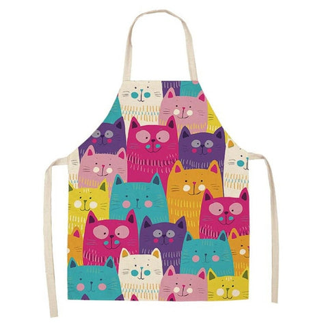 "Kitchen Apron ""Happy Cats"""