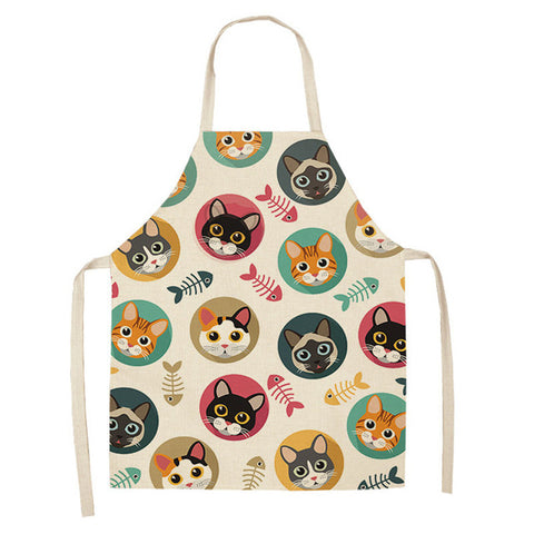 "Kitchen Apron ""Cats and Fishing"""