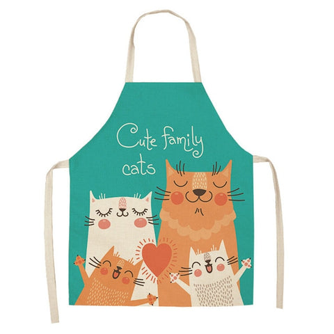 "Kitchen Apron ""Сute Family Cats"""