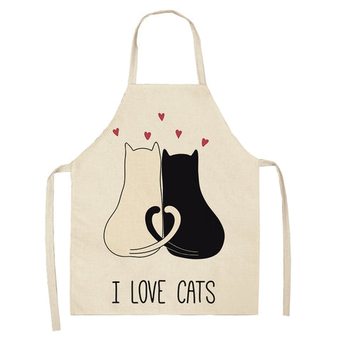 "Kitchen Apron ""Cats in Love"""