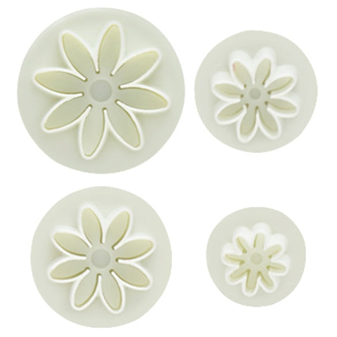 New 4pcs/Set 3D Plunger Flower Baking Mold