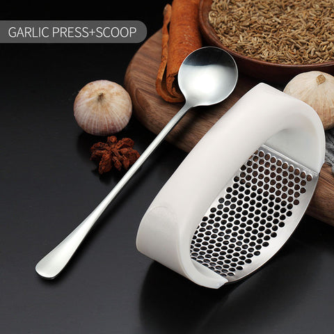 New Garlic Press + Scoop