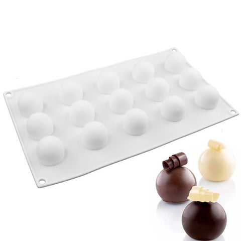 15 Hole Round Ball Shaped Baking Moulds