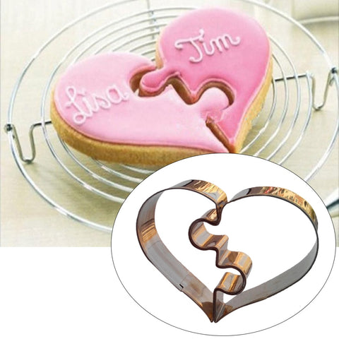 2 Pcs/Set Heart Cookie Cutter
