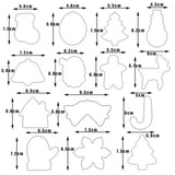 14 pcs/Set Christmas Cookie Cutters