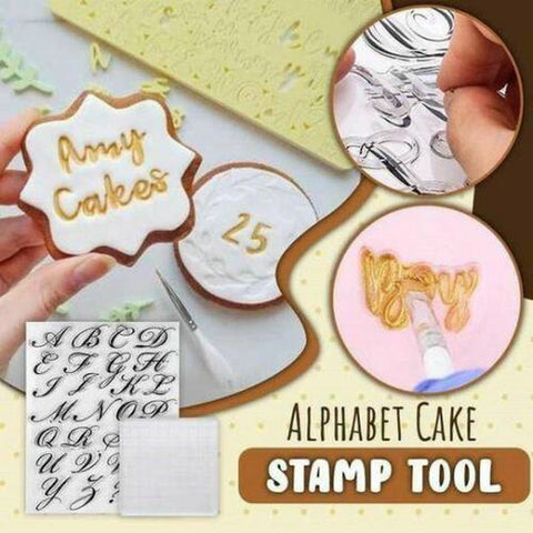 Alphabet Stamp for Baking Decorating