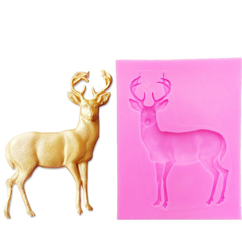 3D Christmas Deer Silicone Mold