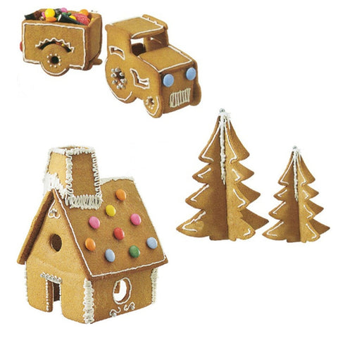 3D Cookie Cutters Christmas Tree Gingerbread House Truck