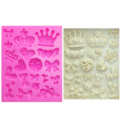 Cake Mold Crown & Bow Tie