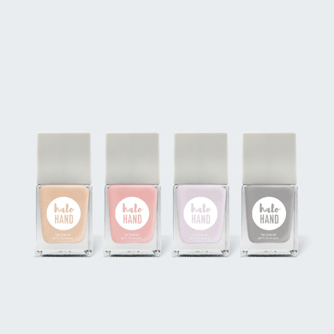 Naughty Nudes Color Kit - Halo Hand nontoxic Polish