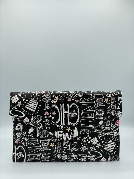 """GRAFFITI "" CLUTCH"