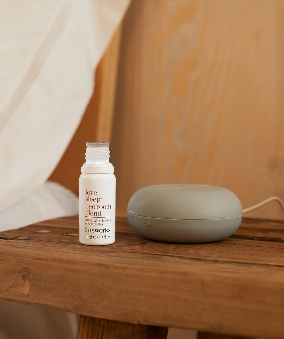 travel diffuser + love sleep bedroom blend