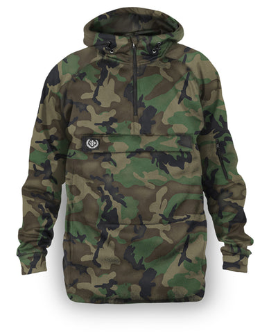 Loose Riders Fleece Anorak Men - FOREST CAMO